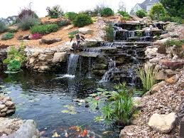 Patio Ideas ~ Patio Waterfalls Ideas Easy Stone Waterfall With ... Cute Water Lilies And Koi Fish In Modern Garden Pond Idea With 25 Unique Waterfall Ideas On Pinterest Backyard Water You Invest A Lot In Your Pond Especially Stocking Save Excellent Garden Waterfalls Design Of Backyard Fulls Unique Stone Waterfalls Architecturenice Simple Diy House Design Small Ponds Beautiful To Complete Your Home Ideas Download Pictures Of Landscaping Outdoor Building Best Rock Diy Natural For Exterior Falls
