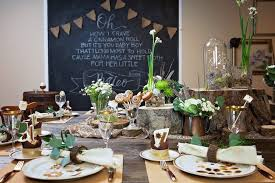 Guest Tablescape From A My Little Cinnabun Rustic Glam Baby Shower Via Karas Party