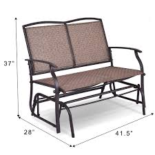 Giantex Patio Glider Bench Textilene And Stable Steel Frame For Outdoor  Backyard,Beside Pool,Lawn, Swing Loveseat Patio Swing Rocker Lounge Glider  ... Intertional Caravan Valencia Resin Wicker Steel Frame Double Glider Chair Details About 2seat Sling Tan Bench Swing Outdoor Patio Porch Rocker Loveseat Jackson Gliders Settees The Amish Craftsmen Guild Ii Oakland Living Lakeville Cast Alinum With Cushion Fniture Cool For Your Ideas Patio Crosley Metal And Home Winston Or Giantex Textilene And Stable For Backyardbeside Poollawn Lounge Garden Rocking Luxcraft Poly 4 Classic High Back