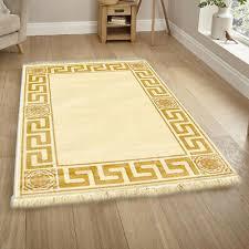 carpet oval in versace look black 152x230 silk gloss medusa