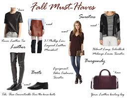My Fall Must Have List