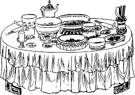 Dining Table With Food Clipart ClipartXtras