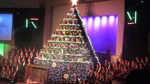 Bellevue Baptist Church Singing Christmas Tree Youtube by Living Christmas Tree 2015 Youtube