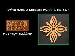 How To Make A Kirigami Pattern Design 1