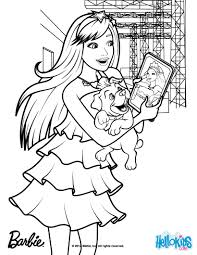 Keira Chats On Her Tablet Coloring Page More Barbie The Princess Popstar