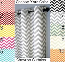 Yellow And White Chevron Curtains by Chevron Blackout Curtains U2013 Teawing Co