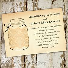 Romantic Lace Mason Jars Rustic Wedding Invitations IWI261