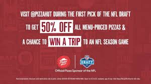 Pizza Hut Offering Half Off Menu-priced Pizzas For NFL Draft Sign Up For Pizza Hut Wedding Favors Outdoor Wedding Pizza Hut Deals Large 98 10 Off More Offering 50 During 2019 Nfl Draft Ceremony 3 Medium Pizzas 5 Micro Center Computers Off On At Monday Friday Coupons Uk Beretta Online Promo Codes Twitter Get Menupriced 15 Laest Coupons Cashback Offers And Promo Code At Tip On Personal Pizzas Are As Low 2 Simplemost New Codes Free Mcdonalds Voucher Coupon