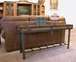 Interior Rustic Sofa Table