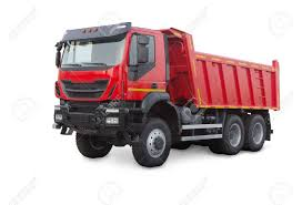 100 Red Dump Truck New Isolated On White Stock Photo Picture And