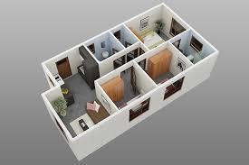3 Bedroom Home Design Plans Wild House Ground Floor 3D 18