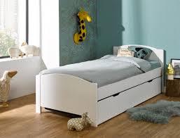 chambre opale lit gigogne enfant opale blanc 90x200 avec 2 matelas chambrekids