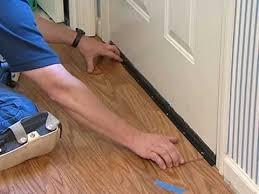 laminate flooring installation undercutting door frames airbase