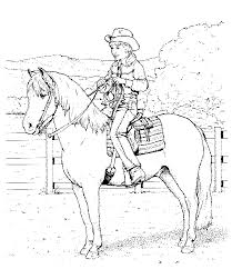 Coloring Pages Horse And Rider