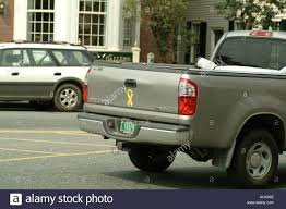 100 Truck Licence SUV Pickup Truck With Yellow Ribbon Bumper Sticker And Vermont Stock