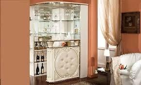 eckbar hausbar wohnzimmer bartheke tresen beige hochglanz klassisch italienisch