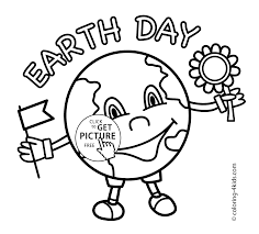 Earth Day Celebration Coloring Pages For Kids Printable Free