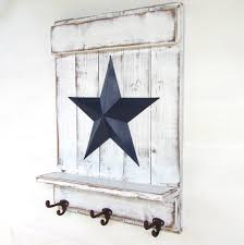 Star Shelf With Hooks; Distressed White Wood, Blue Barn Star ... Rustic Ohio Barn Wedding Real Weddings Gallery By Star Bright Farm White Hall Maryland Kitchen Cabinets Unassembled Diy Backsplash Black Granite Tweetle Dee Design Co Red And Blue Sale Strength Quilt For Put A Wall Decor Wonderful Metal 125 X Large Bevel Cluster Assorted Objects Delphi Glass