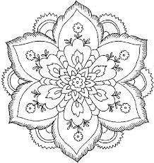 Coloring Pages Of Flowers Simply Simple Flower Pattern