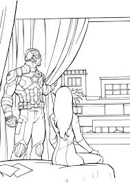 Civil War Coloring Page And More Of These Pages Avengers Captain Guardians