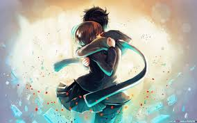 Anime Girl Boy Hug Love Creative