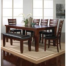 Crown Mark Bardstown 7 Piece Dining Table Set W 5 Chairs 1 Bench