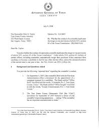 Texas Attorney General Opinion GA 0643 Page 1 of 10 The