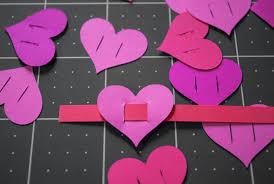 Valentines Day Paper Heart Bracelets For Kids