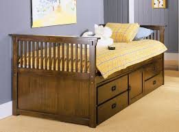 Bedroom Traditional Captains Bed Twin Design With Wooden Beds And