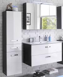 manhattan badezimmer set 3 tlg grau weiß hochglanz günstig möbel küchen büromöbel kaufen froschkönig24