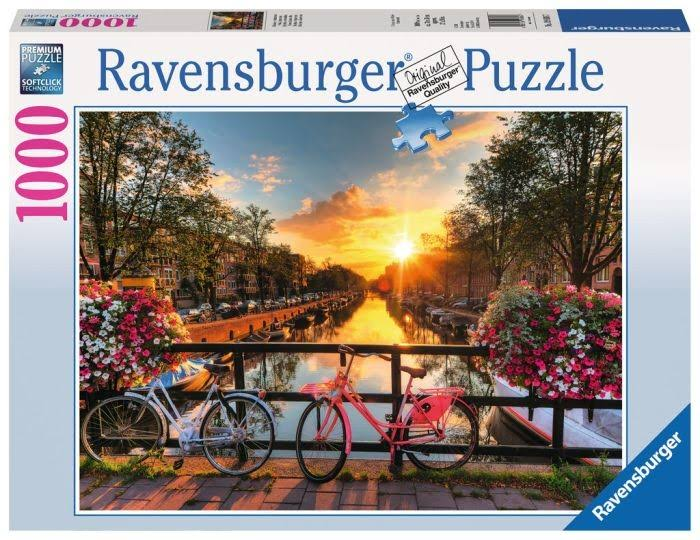 Ravensburger Puzzle - Bicycles in Amsterdam, 1000 Pieces