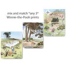 Winnie The Pooh Nursery Decor Ireland by Winnie The Pooh Baby Shower Nursery Wall Art Baby Boy Gift
