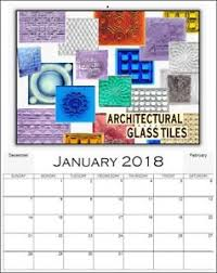 antique style advertising calendar glass tiles prism luxfer
