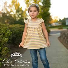 girls knit fabric dress pattern tunic and dress length flutter