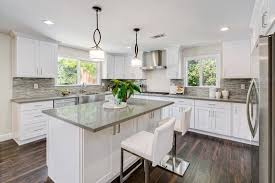 Here Is How The Kitchen Would Look With Blue Gray Walls BM Horizon OC 53