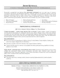 Resume Sample For Experienced Police Officer Samples No Experience Senior Accountant