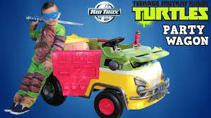 100 Kid Trax Fire Truck Battery Ninja Turtles Party Wagon Powered 6 Volt RideOn