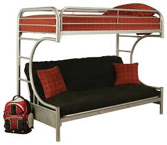 cabot extra long twin over queen futon bunk bed contemporary
