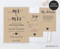 21 Best Wedding Invitation Templates Images On Pinterest