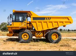 Dump Truck Parking Big Yellow Transporter Stock Photo (Royalty Free ...