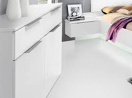 forte starlet plus schlafzimmer set 3 teilig mit bettanlage schwebetürenschrank und kommode korpus dekor weiß kombiniert mit hochglanz front weiß