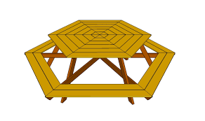 building plans hexagon picnic table plans free download zany85pel
