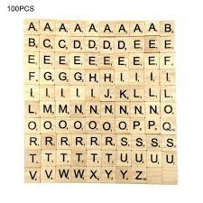 100 stücke scrabble fliesen holz alphabet block 26 englisch