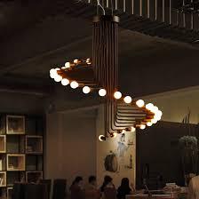 fumat loft retro kronleuchter modern deco minimalistischen wohnzimmer esszimmer cafe bar 26 lichter wendeltreppe kronleuchter