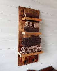 Rustic Bathroom Shelves With Hooks Natural Designs By Rio