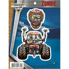 100 Zombie Truck Games Pirates Curse Decal Pack Monster Jam Stickers Decalcomania