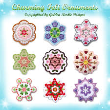 Charming Felt Ornaments Machine Embroidery Designs Patterns