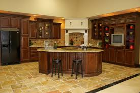 scabos travertine floor tile carnival kitchen traditional kitchen houston by