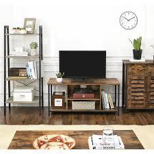 vasagle tv schrank fernsehtisch tv regal lowboard mit offenen fächern wohnzimmer 110 x 40 x 50 cm industrie design vintage dunkelbraun by