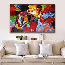 großhandel mintura kunst handgemalt leinwand malerei kunst poster abstrakt boxer ölgemälde mondern wandbilder für wohnzimmer wohnkultur nein gerahmt